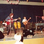 Bournemouth Town Hall c.1984 L-R Chris Ferguson, Zoot Money, Dick Ashby, Al Kirtley. Out of shot Rog Collis.