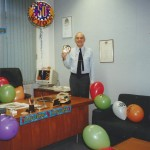 Another 50th birthday pic.  I was a bit better behaved at the office (Ambassador Insurance Co. Ltd.)