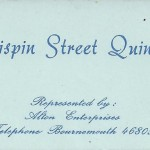 Crispin Street Quintet business card