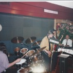 Palookaville, Covent Garden 1993/4 L-R Mick Kirby, Dave Crabtree, Les Booth, Al Kirtley