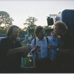 Brockstock 2000. John Wetton, Michael Giles, Ed Roberts, after our beer had been resupplied.