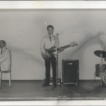 Rockley Sands 1967. L-R Al Kirtley, Mike Montgomery, Roger de Souza.