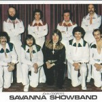 Savanna Showband later line-up. Back row: Andy Stewart, Roger Sewell, Alan Swinden, Al Kirtley. Front row: Chris Cooke, Dave Crabtree, John Cooper, Ian Leigh, Barry Caws
