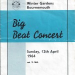 Programme for concert at the Winter Gardens, Bournemouth 1964.