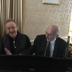 Gert and Daisy (alias Zoot Money & Al Kirtley) sharing the piano at the funeral wake for Pat 'PeeWee' Sheehan. Bournemouth 20 March 2018.