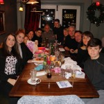 The Kirtley tribe at the Four Horseshoes, Chobham Dec 2017. L-R Katie, Holly, Yasmina, Tanja, Josh, me, Sam, Rig, Pete, Billy, Emma, Olly.