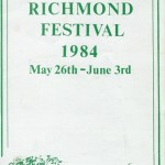 Richmond Festival 1984 programme