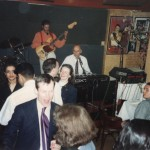 Palookaville c1991. My son, Pete, with long hair, is sitting at the table in front of the band
